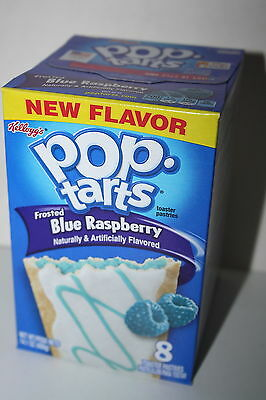 USA Kellogg's Pop Tarts Frosted Blue Raspberry (8 toaster pastries)