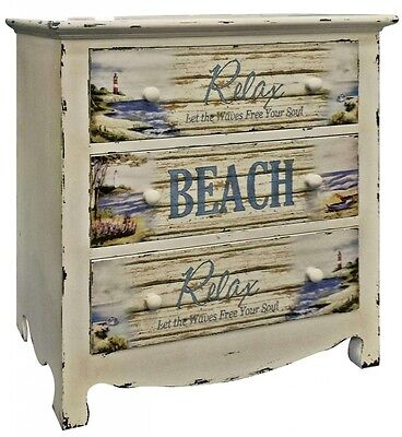 Shabby Chic Driftwood Style Wooden Chest Of Drawers