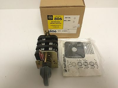 New Old Stock! Allen-Bradley Reversing Drum Switch 806-Ds-2484 806Ds2484 3-Pos