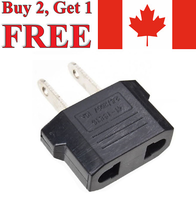 EU/AU (Europe/Australia) to US (Canada) Converter Power Plug Travel Adapter