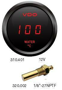 VDO Cockpit Digital Water Temperature Gauge 40-120 DegC 52mm With Sender