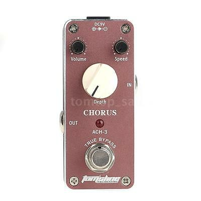 Aroma ACH-3 Mini Chorus Electric Guitar Effect Pedal with Fastener Tape ~ V7I3