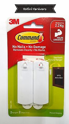 3M Command Sawtooth Picture Hanging Hook 2 In Pack
