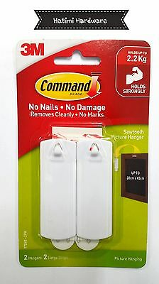 3M Command Sawtooth Picture Hanging Hook 2 in Pk