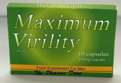 Maximum Virility 10 Capsules Enhancement Pills Dragon Max Strength Extra Strong