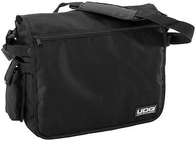 "UDG COURIER BAG black ""Nera"" Borsa per DJ per vinile lp mix 12"" NUOVA"