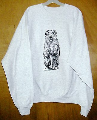 BOUVIER Des FLANDERS [with Natural Ears] Coming&Going SWEATSHIRT / Unisex LARGE