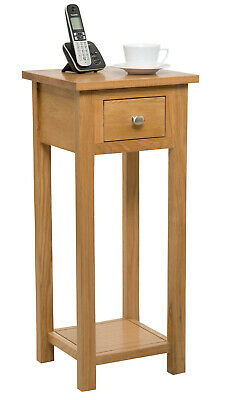 Small Oak Console Table | Solid Wood Hall Side/End/Telephone/bedside Stand