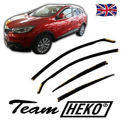 DRE27192  RENAULT KADJAR  5 DOOR 2015-up WIND DEFLECTORS 4pc HEKO TINTED