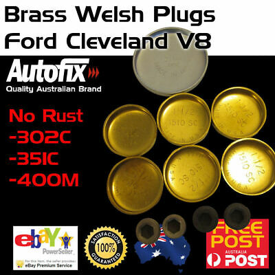 New Ford Cleveland 302 351 Brass Welch Welsh Freeze Core Plug Set Gallery Kit