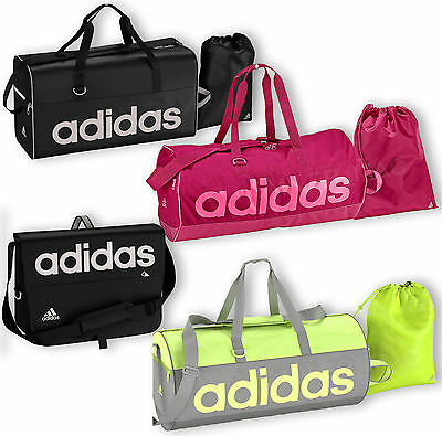 Adidas Linear Holdall Messenger Bag Sports Gym Mens Boys Ladies Girls Womens