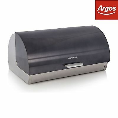 Morphy Richards Accents Roll Top Bread Bin - Black -From the Argos Shop on ebay