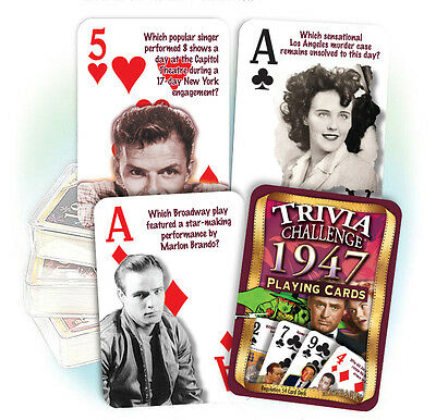 Flickback 1947 Trivia Playing Cards:  70th Birthday or Anniversary Gift