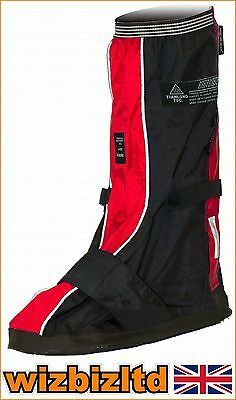 Water Wind Proof Deluxe GTO Motorbike Over Boots (OVERBOOT) Size 8-11 GTOBOOTR