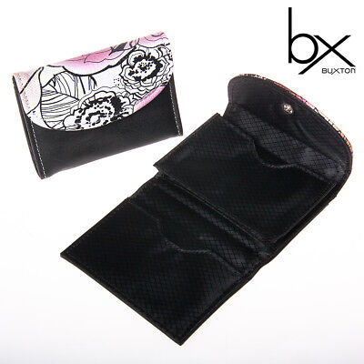 2 Women's Buxton Floral Pop Art Business Card & Credit Case Holder Snap Wallet