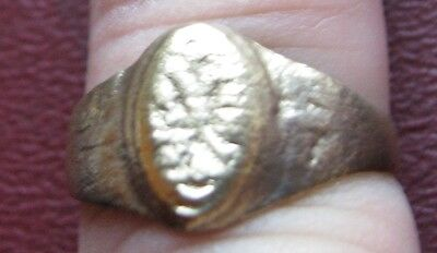 Antique Artifact > 19th Century Bronze Finger Ring  SZ 8 1/4 US 18.25mm 14400 DR