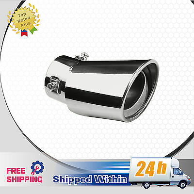 """One New Chrome Stainless Steel diesel Muffler Tip Exhaust Pipe Inlet≤2.35"""""""