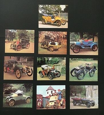 Lot Of White Wings Large Cards X 10 Vintage Car Series