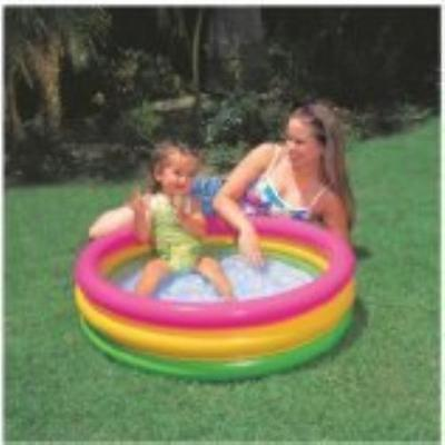 "Intex Sunset Glow Baby Pool (34In X 10 In) 34"" X 10"" Inflated 8-Gauge Rings; New"