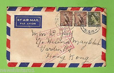 #d237.  Salvaged Mail Cover From 1954 Aircraft Crash, Posted The Entrance Nsw