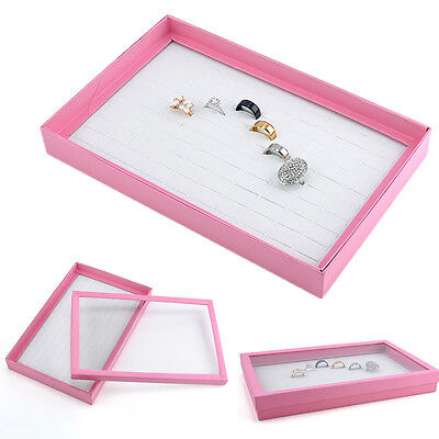 100 Rings Jewelry Display Storage Box Tray Show Case Organiser Earring Holder