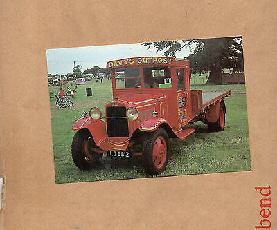 1931 Ford Model A Flat bed truck Commercial centre postcard card NOS card