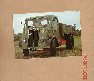 1949 guy Otter Dropside lorry Commercial centre postcard card NOS card