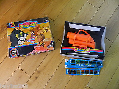 Vintage Chad Valley Tom and Jerry Sliderama Projector with 15 slides 1972