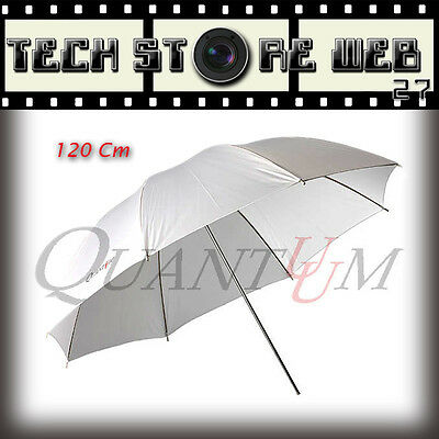 QUANTUUM UMBRELLA TRASPARENT WHITE 120cm PER FLASH DA STUDIO SALA POSA FOTO