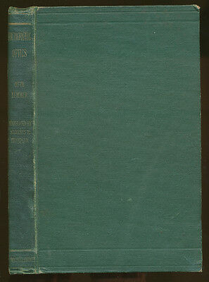 """Otto Lummer libro """"Contributions to Photographic Optics"""" in inglese 1900   D734"""
