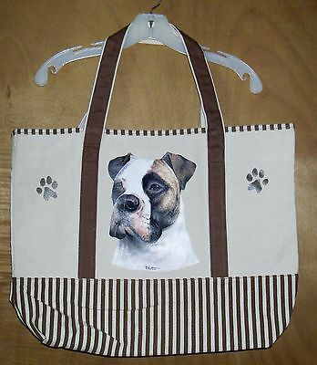 AMERICAN BULLDOG - 100% Cotton Canvas, heavy duty, X-Large TOTE BAG