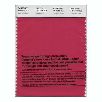 Pantone Smart Swatch 18-1759 Jalepeno Red