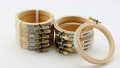 LOT 3 inch Round Small Wooden Embroidery Hoops Bulk Wholesale 100 Pieces Darice