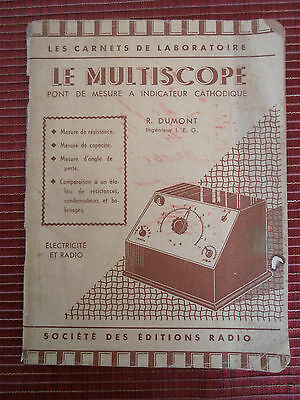 catalogue radio T.S.F - le MULTISCOPE ( ref 22 )