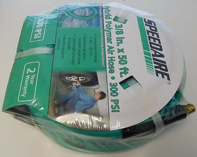 "Speedaire Flexzilla HFZ3850GR2-SP 3/8"" x 50' Air Hose 300PSI 1/4"" MNPT Ends"