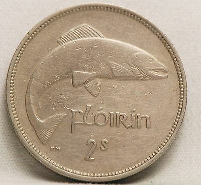 Ireland, 1951 Florin, Extremely Fine, a dig