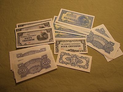32 pieces of WW2 Japanese Occupation money, Dealer Lot, Gun Show, Flea Market