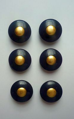 Buttons 6 Eyelets Buttons 18 mm black /gold