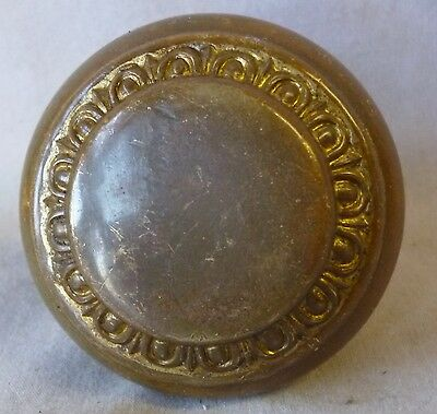 Door Knob (single) Egg & Dart  Brass Victorian Eastlake Nouveau2 1/4""