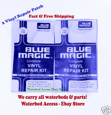 2 Vinyl Repair Kit Blue Magic WATERBED PATCH KITS- Mattress Repair-FREE SHIPPING