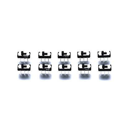 10pcs DC 50V 1A On/Off/On DPDT 6 Pin Toggle Vertical Mini Slide Type DIP Switch