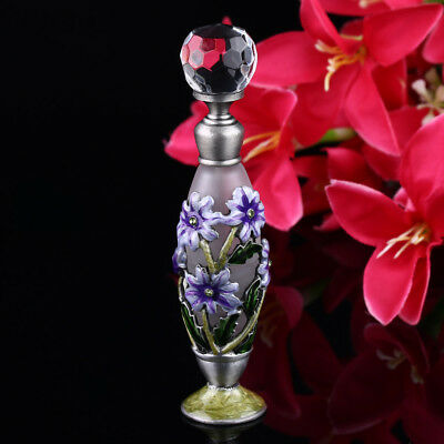 Glass & Metal Vintage Refillable Empty Perfume Bottle Antique Style Gift