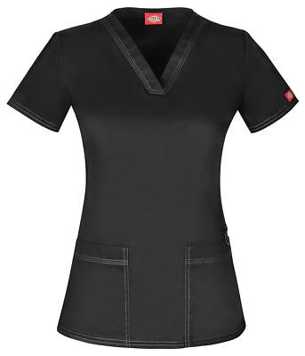 Dickies Gen Flex Style DK800 V Neck Scrub Top Pick Size & Color - Free Shipping!