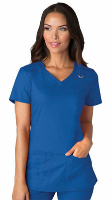 Dickies Women's New Side Vents Short Sleeve Pocket V Neck Scrub Top. 85948A