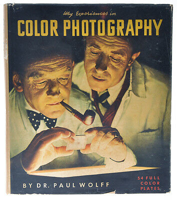"""Dr.Paul Wolff libro """"My Experiences in Color Photography"""" 1952 in inglese D738"""