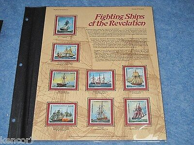 Fighting Ships Of The Revolution Stamps Collection Mountable Placard B6915