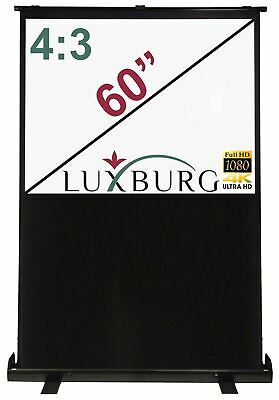 """Luxburg® 60"""" 120x90 cm Portable Freestanding Floor Pull-up Projection Screen"""