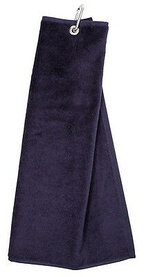 NEW Masters Golf Tri Fold Velour Golf Towel - Navy
