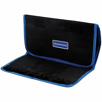Silverline 783142 Expert Tool Storage Roll Carry Bag Multi Pocket 760x300mm