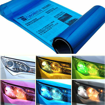 12 Inch Car Headlight Tint DIY Taillight Vinyl Wrap Fog Light Film Sheet Sticker